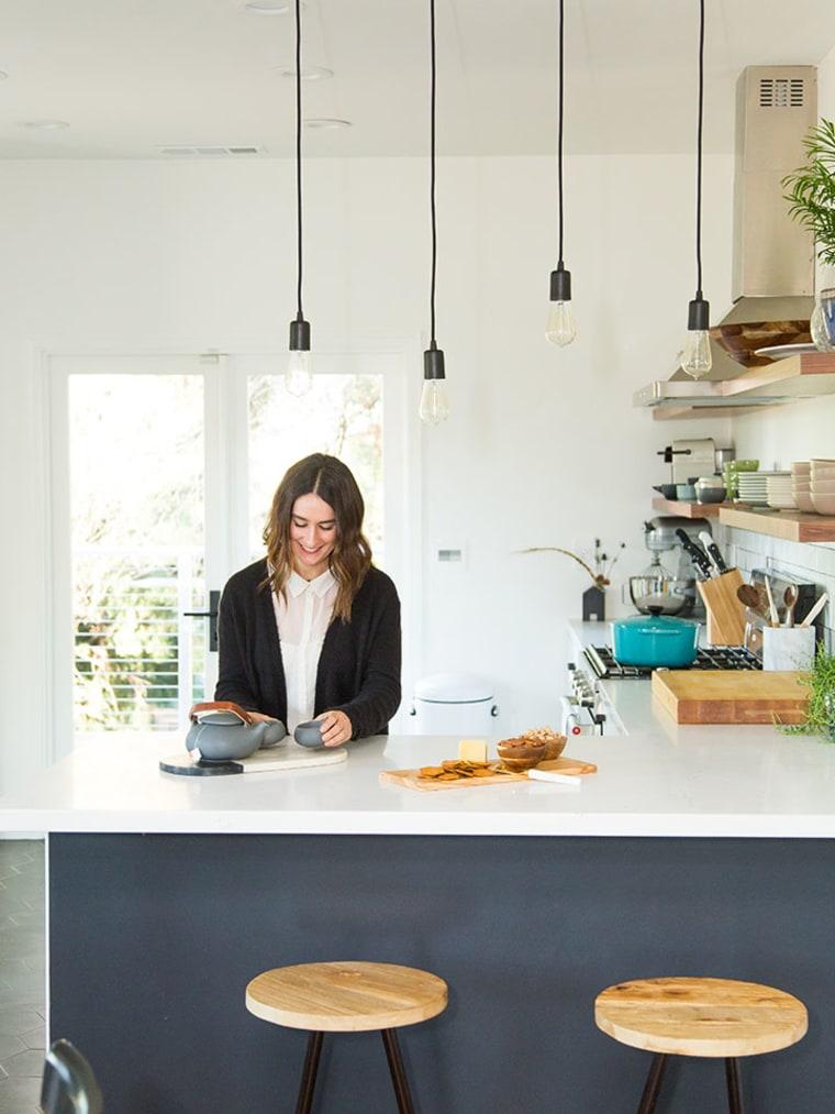 Foken in her kitchen