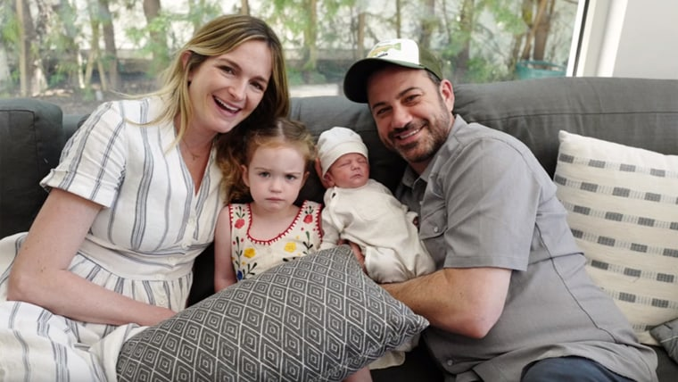 Jimmy Kimmel with his family