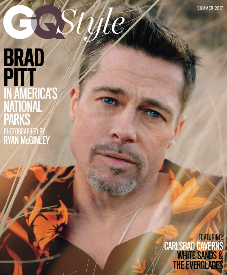 Brad Pitt on one of three covers of the summer edition of GQ Style.