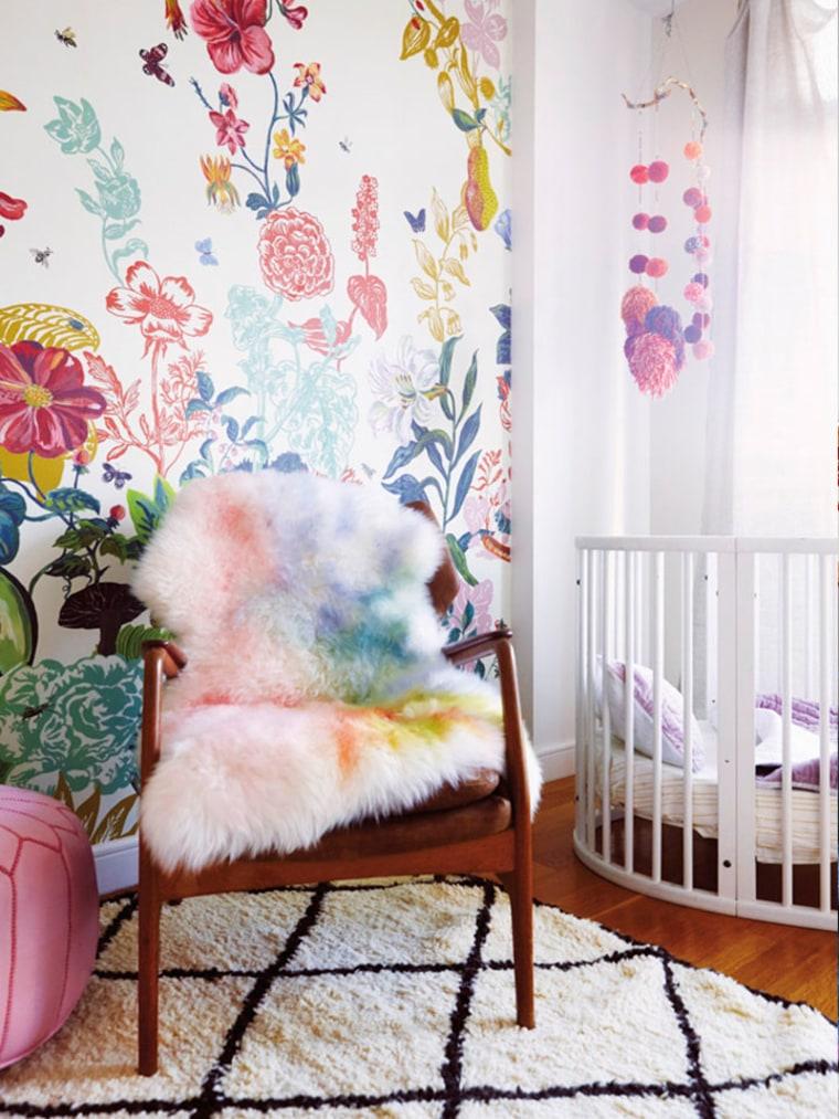 rainbow sheepskin rug