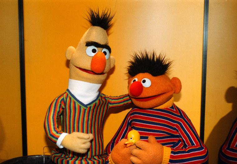Bert & Ernie, 'Sesamstra?e' ARD, Sesamstrasse,, (Photo by Pet