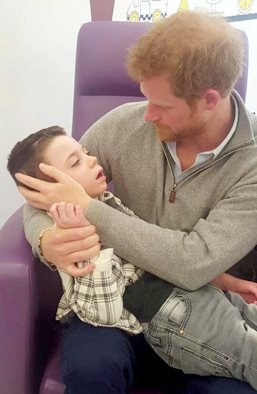 Prince Harry meets terminally ill Ollie Carroll
