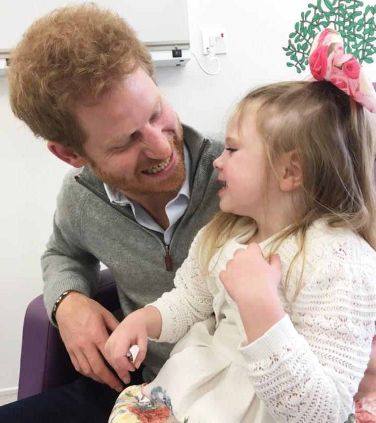 Prince Harry meets Amelia Carroll