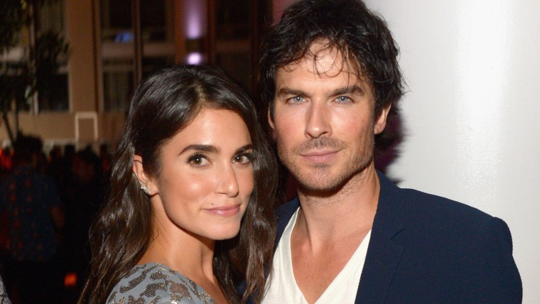 Actors Nikki Reed and Ian Somerhalder