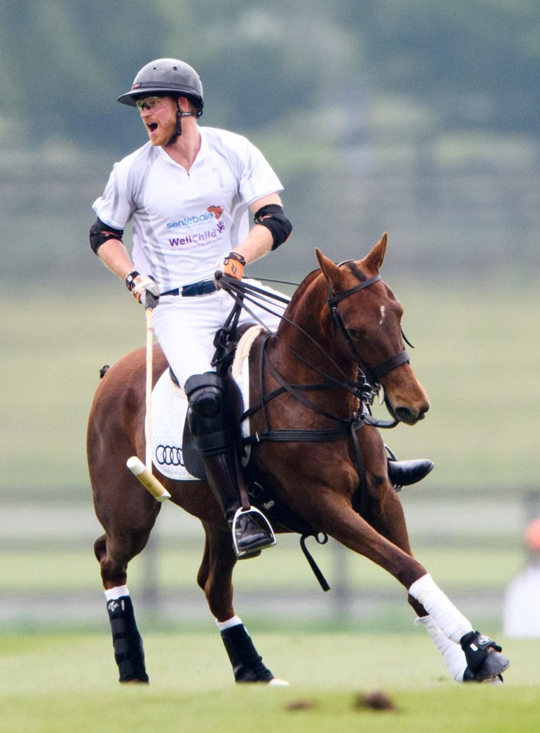 Prince Harry playing Polo.