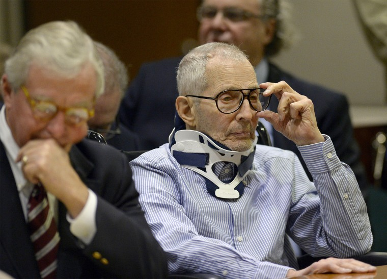 Image: Robert Durst at an appearance in a courtroom in Los Angeles