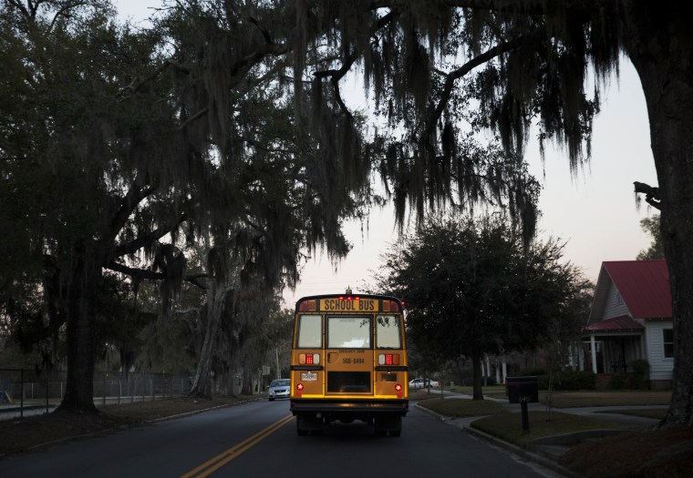 Image: School bus in Estill, S.C.