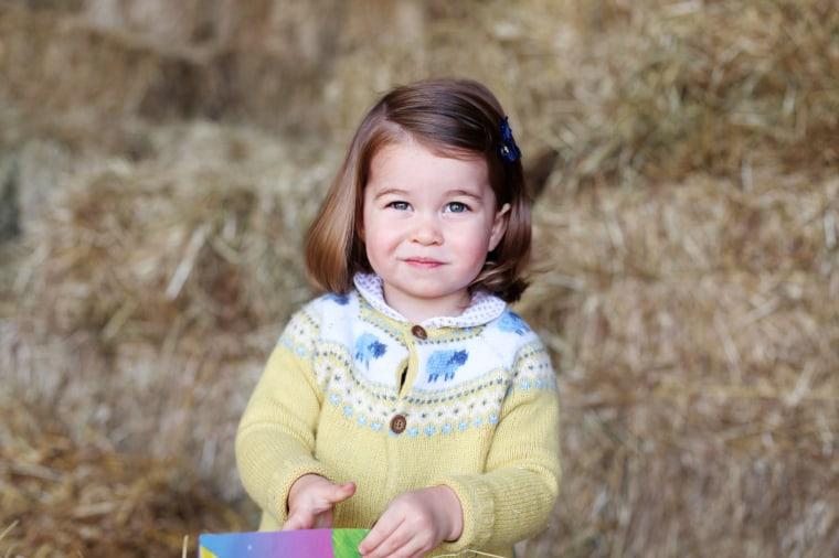 Image: Princess Charlotte pictured in April in a photo released to mark her second birthday