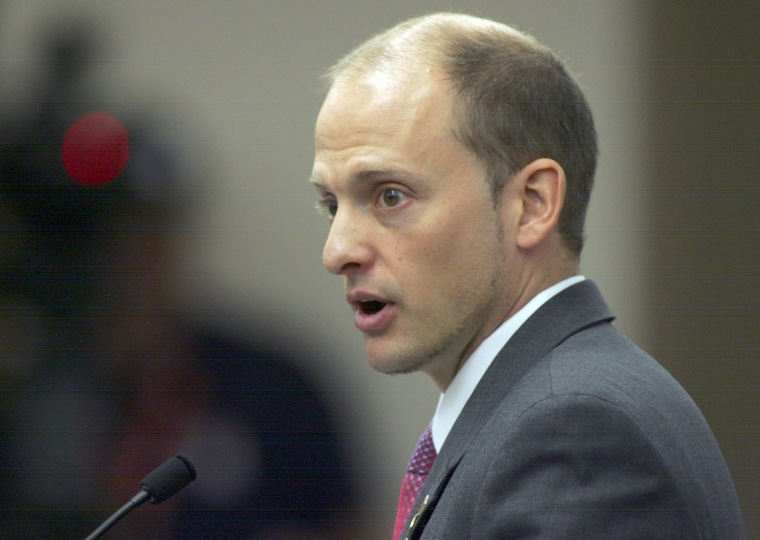 Image: Rep. Jos? Javier Rodr?guez, D-Miami, answers questions about a proposed committee bill during a Higher Education & Workforce Subcommittee meeting at the House Office Building, March 6, 2013, in Tallahassee, Florida.