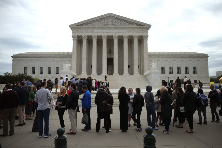 Religious Freedom Rallies Take Place Outside Supreme Court As Court Case Involving Trinity Lutheran Church