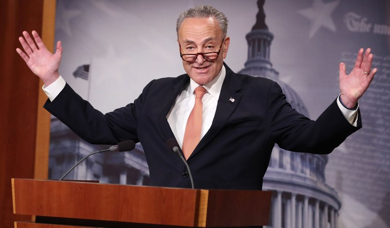 Image: Chuck Schumer Holds Press Briefing On Current Government Budget Negotiations
