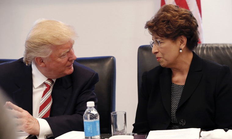 Image: Donald Trump and Jovita Carranza
