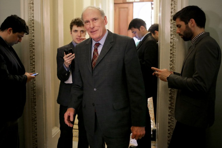 Image: Senator Dan Coats Speaks with Reporters