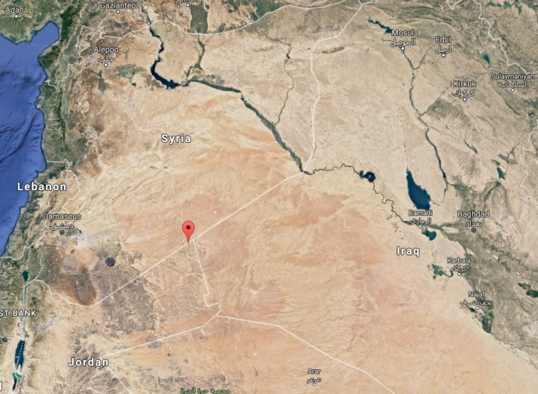 Image: Map shows location of Al Rukban refugee camp