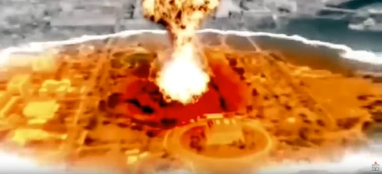 Image: North Korean video shows a simulation of the nuclear destruction of Washington
