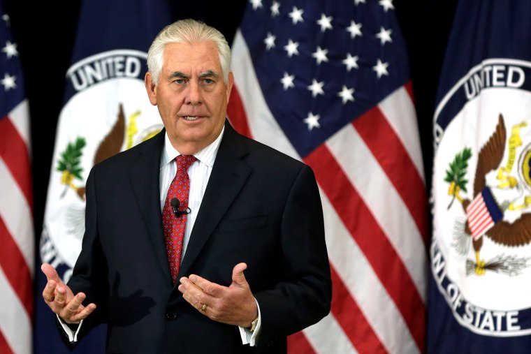 Image: U.S. Secretary of State Rex Tillerson delivers remarks to the employees, in Washington