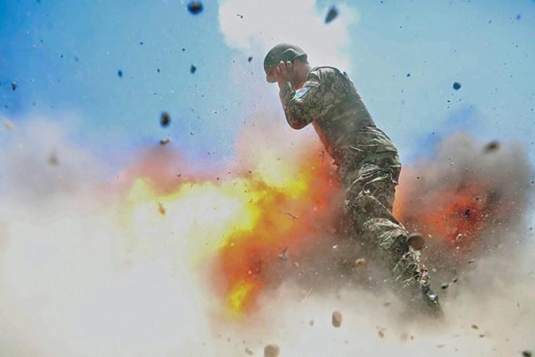 Image: Spc. Hilda I. Clayton last image of mortar exploding