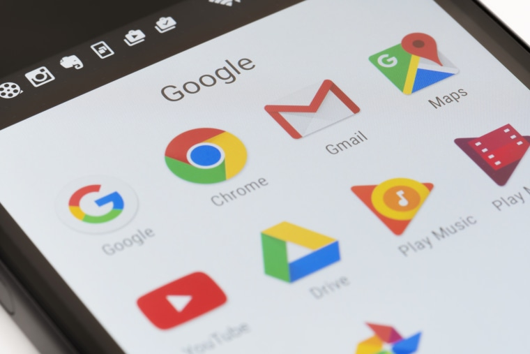 Image: Google apps on Android phone
