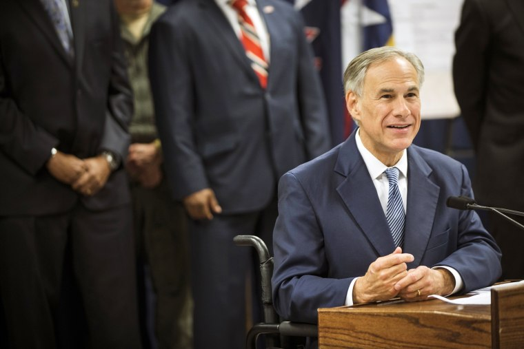 Image: Gov. Greg Abbott speaking
