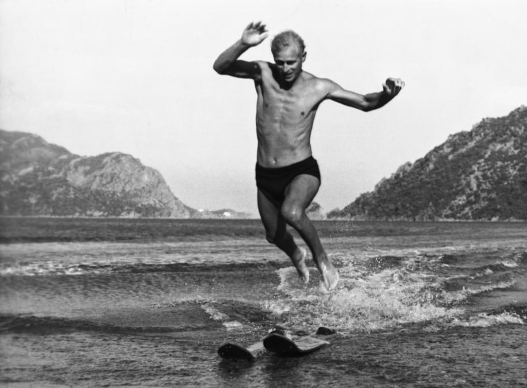 Image: Duke of Edinburgh Water Skiing in Turkey, 1951