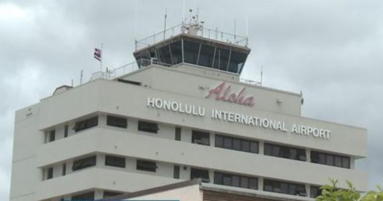 The former sign at the Daniel K Inouye Honolulu International Airport. A new sign will be installed at a later date.
