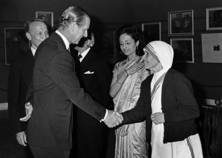 Image: Prince Philip And Mother Teresa
