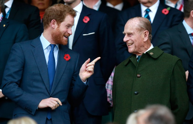 Image: FILE PHOTO: Prince Philip, Duke of Edinburgh To Step Down From Royal Duties New Zealand v Australia - Final: Rugby World Cup 2015