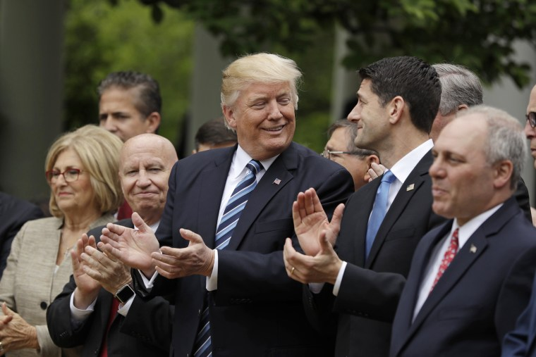 Image result for photos of trump celebrating with congress