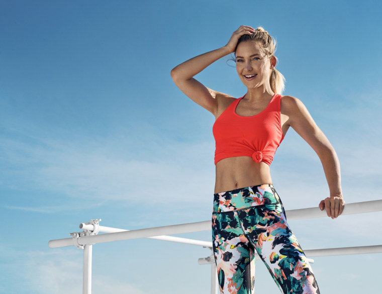 Kate Hudson is both spokesperson and co-founder for athetic wear line Fabletics.