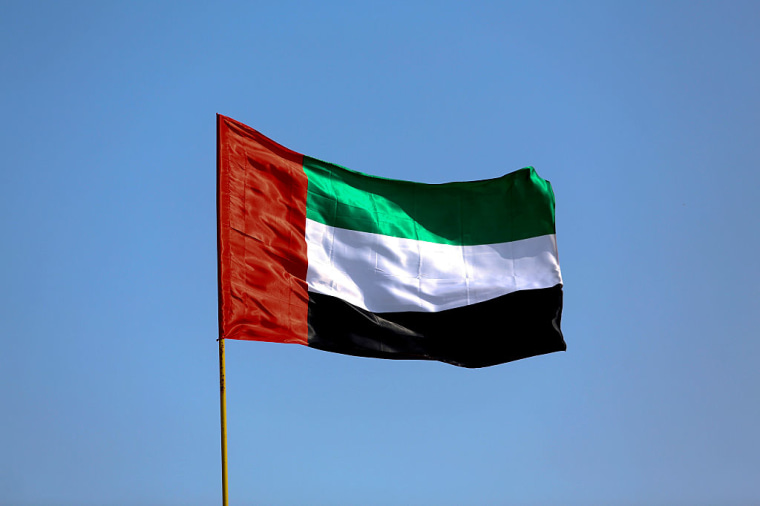 The national flag of the United Arab Emirates