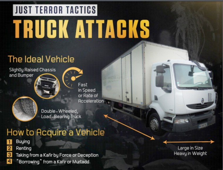 Image: ISIS truck attacks poster