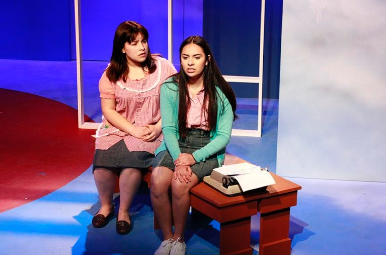 Valeria Flores and Angel Marie Galvan in 'Simply Maria or The American Dream' by Josefina Lopez at CASA 0101 Theater