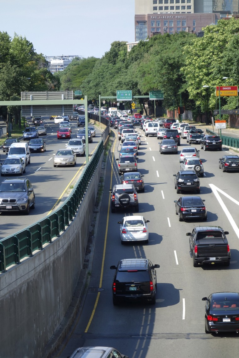 Image: Traffic, Storrow Drive, Boston