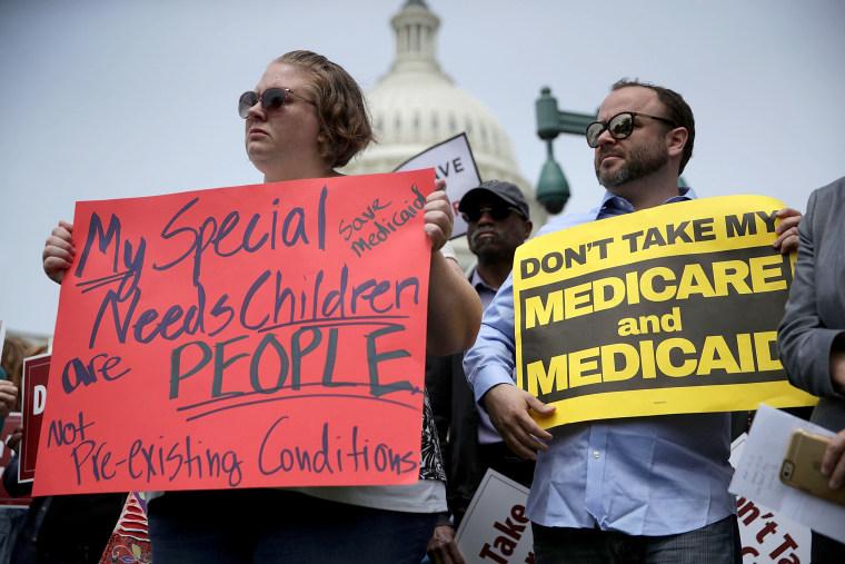 Image: Democratic Senators Speak Out Against Trump's Health Care Plan