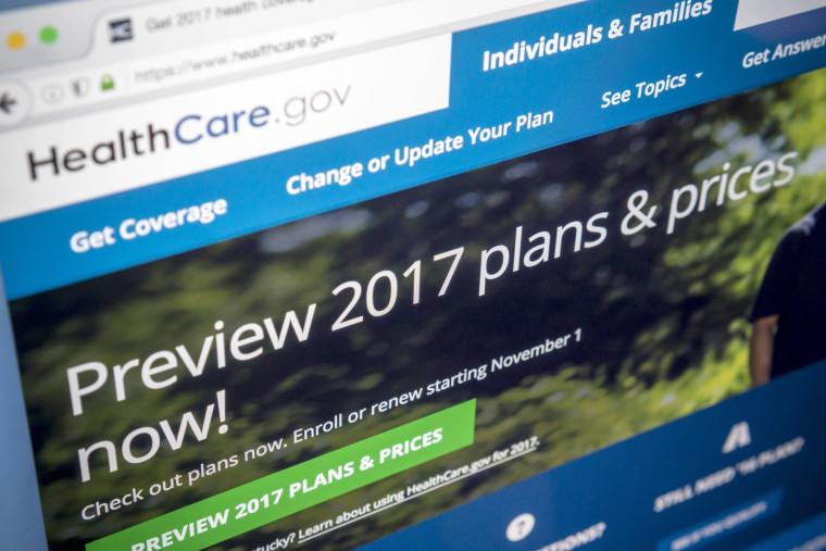 Image: Healthcare.gov site