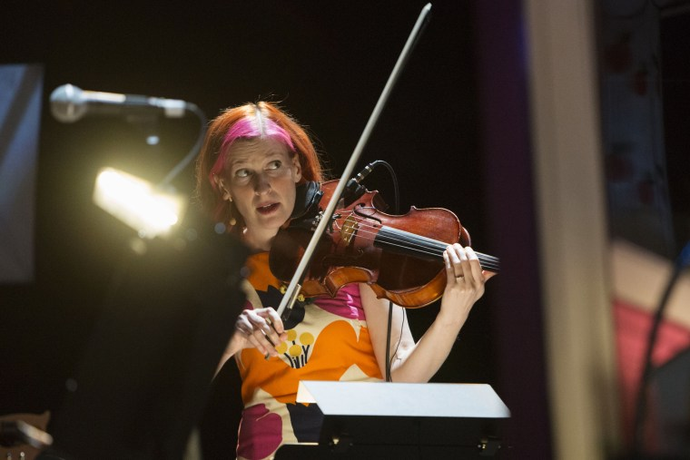 Image: Pinky Weitzman performs with the Magnetic Fields in Seattle