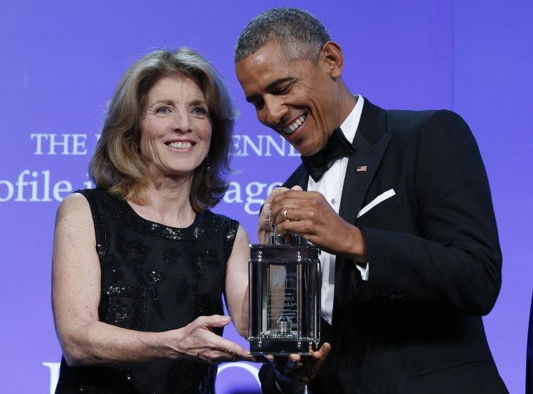Image: Caroline Kennedy and Barack Obama