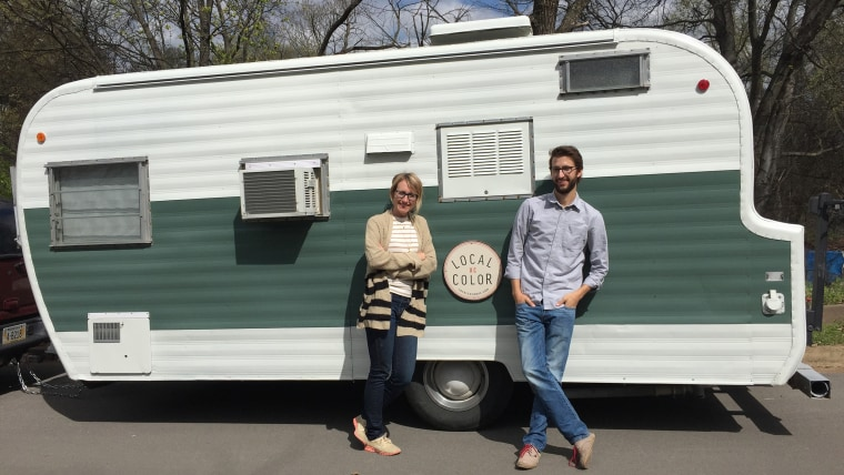 Couple hits the road in 120 square foot trailer