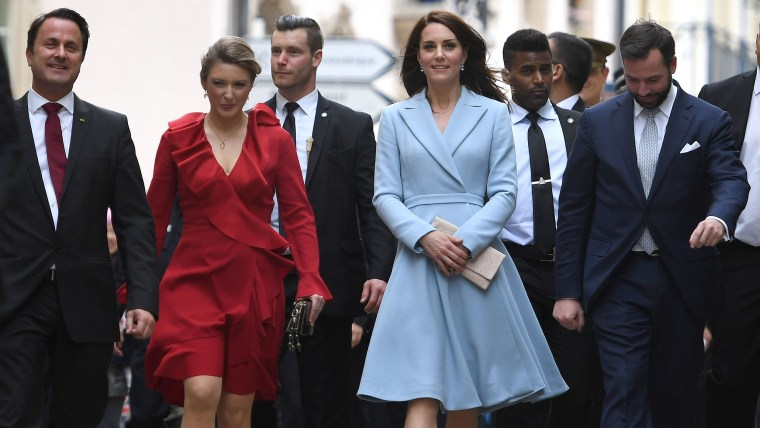 Duchess of Cambridge, the former Kate Middleton, visits Luxembourg