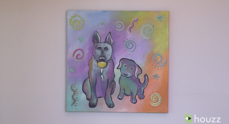 Ludacris dog painting