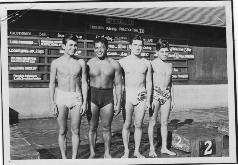 Members of the Three-Year Swim Club, including Halo Hirose and Keo Nakama
