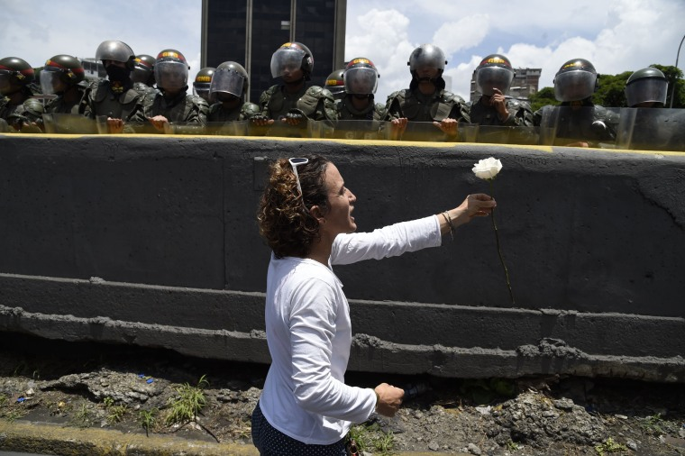 Image: Opposition activist in Caracas, Venezuela