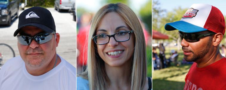 Javier Suarez, left, Lissa Kobak, center and Ray Gonzalez comment on health care.