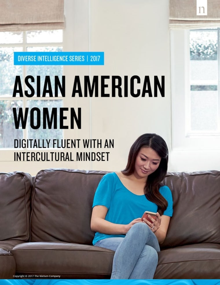 The cover of Nielsen's 2017 report on Asian-American women.