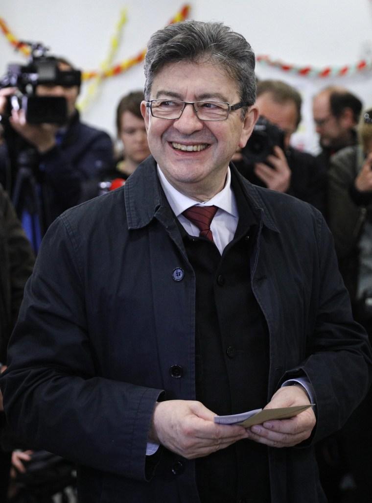 Image: Jean-Luc Melenchon in Paris
