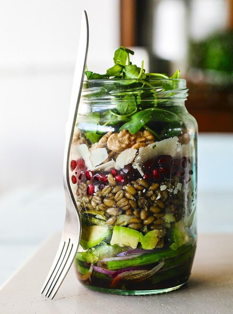 Image: Balsamic Pomegranate Rocket Salad Jar