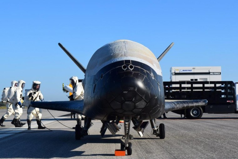 The U.S. Air Force's X-37B Orbital Test Vehicle mission 4 (OTV-4) spent a record 718 days in space during its classified mission.