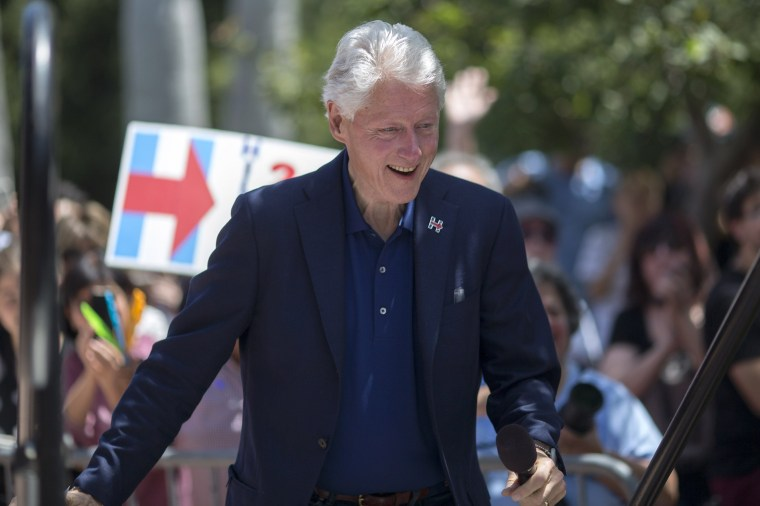 Image: Bill Clinton Campaigns For Hillary Clinton In Southern California