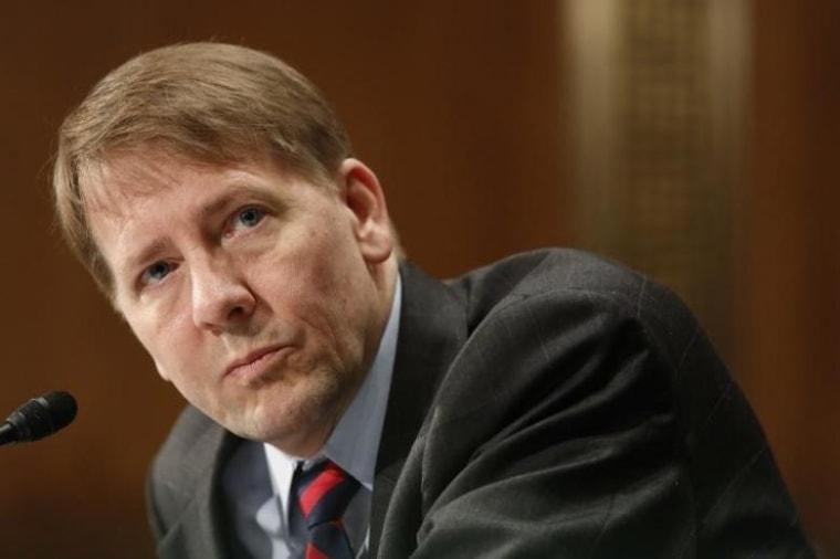 U.S. Consumer Financial Protection Bureau Director Cordray testifies before a Senate Banking Committee hearing on Capitol Hill in Washington