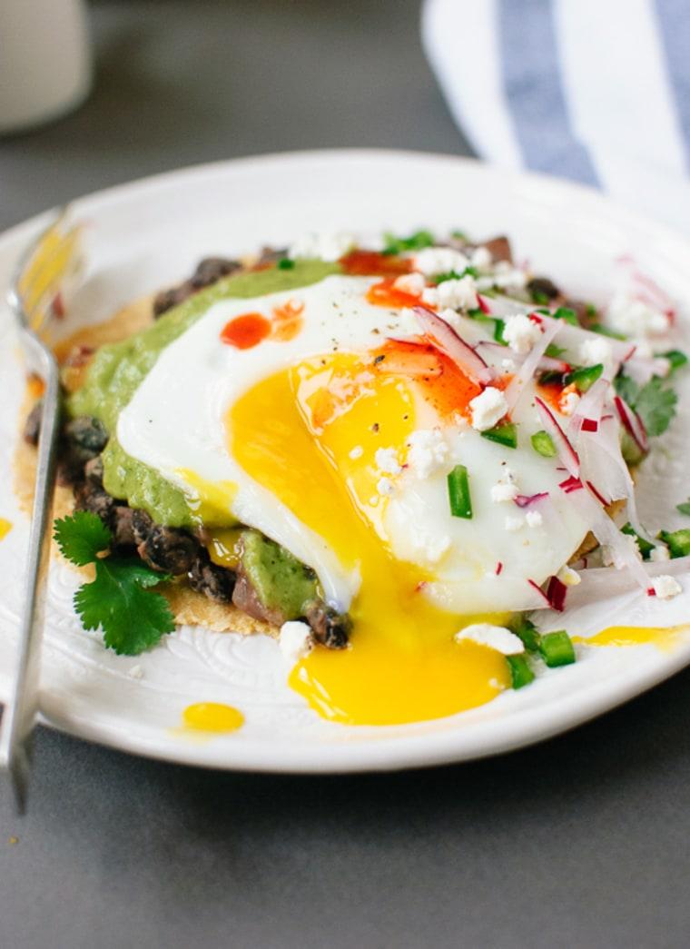 Image: Huevos Rancheros with Avocado Salsa Verde